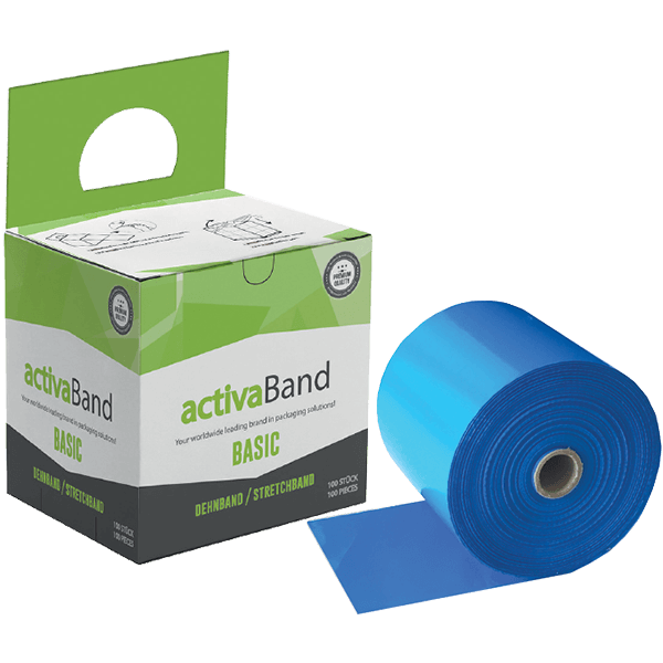activaBand - Palttendehnband in Blau zur Stabilisierung von Paletten