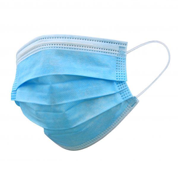 Mund-Nasen-Maske 3-lagig mit Nasenbügel & Ohrenschlaufen