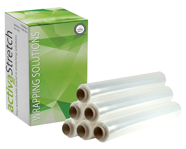 activaStretch Light - Hand Stretchfolie Typ 20µ transparent 500 mm x 300 lfm