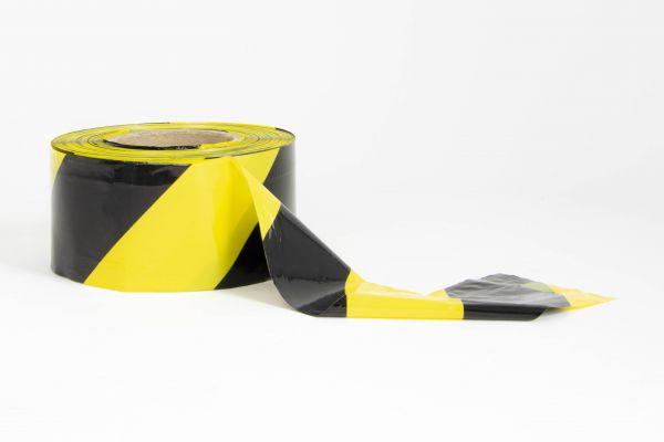 Absperrband Schwarz-Gelb 7,5cm x 500m-Copy