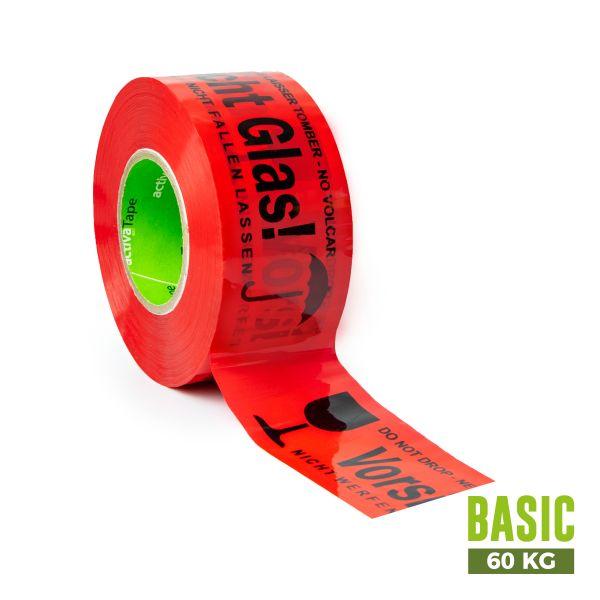 """activaTape Basic 48 mm x 150 lfm """"Vorsicht Glas"""""""