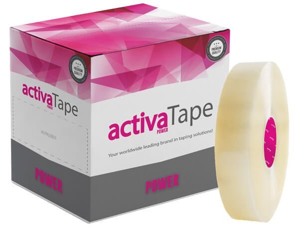 activaTape Power - Maschinenklebeband transparent 48 mm x 990 lfm