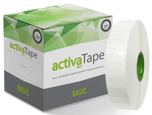 activaTape Basic - Maschinenklebeband Weiss 48 mm x 990 Laufmeter