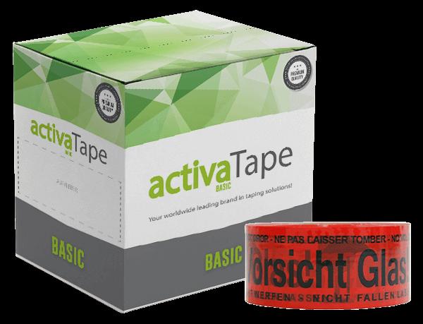 activaTec Basic - Paketklebeband Vorsicht Glas 48 mm x 150 lfm