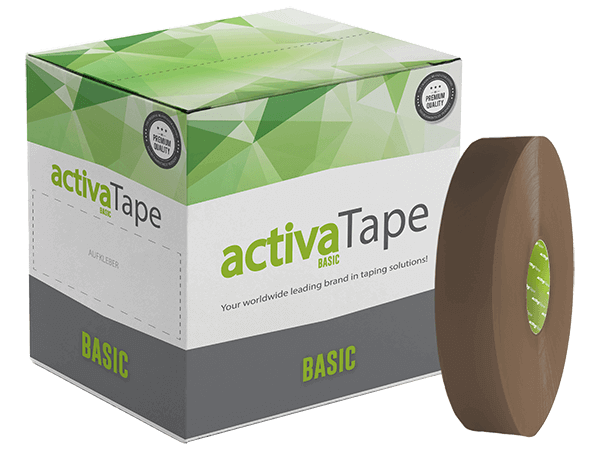 activaTape Basic - Maschinenklebeband braun 48 mm x 990 lfm
