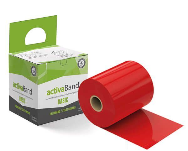 activaBand - Palettendehnand in rot zur Palettensicherung