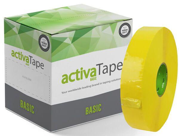 activaTape Basic - Maschinenklebeband Gelb 48 mm x 990 Laufmeter