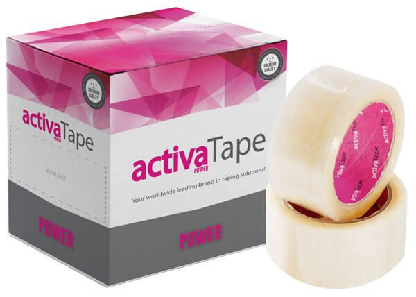 activaTape Power - Paketklebeband transparent 48mm x 66 lfm